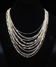 Luxus Statement Halskette IKITA Paris Kette Collier Metall Gold /Weiß Kollier