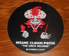 "Insane Clown Posse The Great Milenko Sticker Circle 1997 Promo 9"" Jumbo RARE"