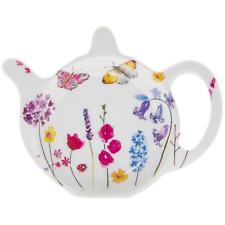 Teabag Tidy Butterfly Garden Floral Design Kitchen Saver Tea Bag Tray