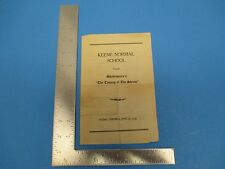 Vintage 1930 Keene Normal School Shakespear`s The Taming Of The Shrew Prog S1500