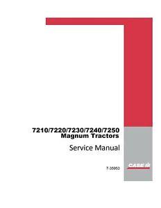 Case IH 7210 7220 7230 7240 7250 Magnum Tractor Service Repair Manual DVD