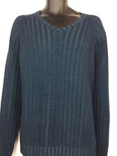 Tommy Bahama Men's Cable Knit Style Merino Wool V-Neck Sweater Size XXL