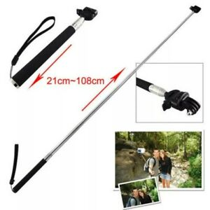Extendable Selfie Stick Hendheld Monopod with Screw and Go Pro Mount