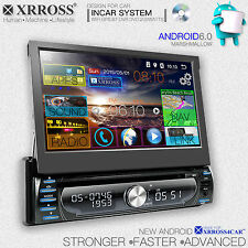 Xrross Car DVD audio video radio player Android 6.0 GPS Navigation single Din