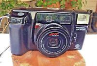 Vintage Minolta 35mm AF-Zoom 90 Freedom Camera W/Case 2 Unopened Rolls 35mm Film