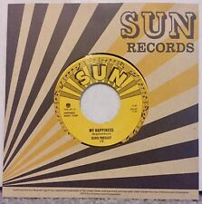 "ELVIS PRESLEY My Happiness / That's when heartache 7"" SUN third man johnny cash"