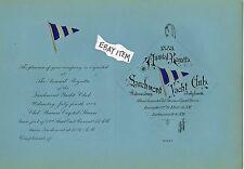 1883 NEW YORK Invitation ANNUAL REGATTA LARCHMONT YACHT CLUB Steamer Crystal Str