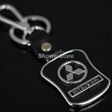 Mitsubishi Brand Keyring UK Seller Black Silver Key Ring Premium Quality