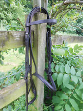 BRIDLE BROWN ENGLISH LEATHER COB SIZE + RUBBER REINS QUICK DISPATCH
