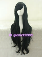 Marceline the Vampire Queen Long Curly Black Cosplay party Wig + a wig cap