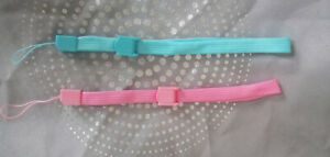 4 x  wrist strap for Nintendo DS, Wii remotes. Grey, Pink, Blue and black