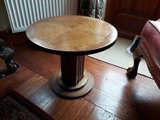 art deco oak side table