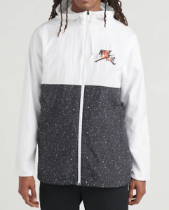 Jordan Jumpman Classics Windwear Jacket Men's Size L White Black Red CT9368-100