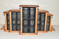 Franklin Library OXFORD ENGLISH DICTIONARY REFERENCE SET 8V W/ GOLDEN OAK CASE!