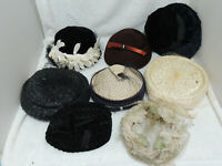 Vintage Ladies Hats / Millinery Supplies Lot 8 As Is