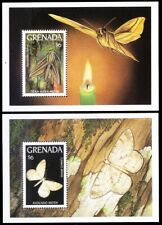 Grenada 1993 MNH MS Set, Moth, Insects