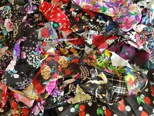 500g Mixed Fabric Off Cuts/Remnants - Craft Schools Practice Material Patchwork