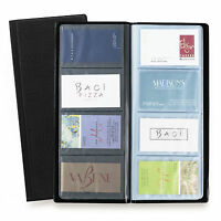 Rapesco Business Card Holder Wallet Album - 64 Pocket / 128 Card Capacity Black