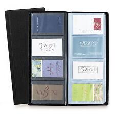 Rapesco Business Card Holder Wallet Album - 64 Pocket / 128 Card Capacity Black