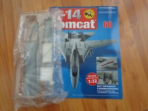 1/32 HACHETTE BUILD THE F-14 TOMCAT MODEL PLANE ISSUE 60 INC PART PICTURED