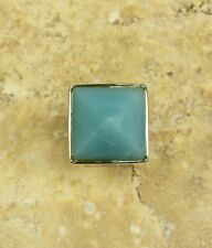 RLM STUDIO STERLING SILVER AND GREEN QUARTZITE SUGARLOAF RING SIZE 5 QVC