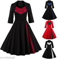 Vintage 50er Jahre Stil Kleider Retro Ballkleid Petticoat Pin Up Abendkleid Neu