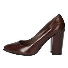 scarpe donna FABI 35 decolte marrone pelle AE749-B