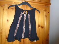 Stunning black cropped top with an open back, ATMOSPHERE, size Medium, 12