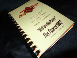 Shania Twain/Toby Keith *Concert Tour Book Created For Cast & Crew Of 1993 Tour!