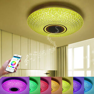 Plafoniera LED 62W RGB dimmerabile cassa bluetooth smartphone APP telecomando IR