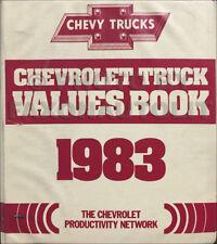 1983 Chevrolet Truck Values Sales Training Dealer Album Chevy Options Book