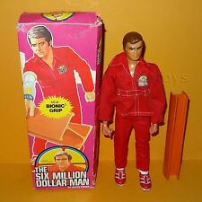 VINTAGE 1975 Denys Fisher SIX MILLION DOLLAR BIONIC MAN Grip Action Figure BOXED