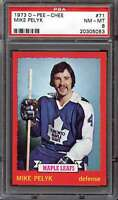 1973-74 O-PEE-CHEE #71 MIKE PELYK PSA 8 MAPLE LEAFS  *CG3136