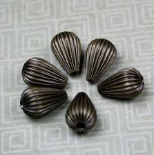 Antique bronze laiton ondulé poire perles-pack de 20