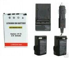 630mAh Battery + Charger for Casio EXS20U EXS3 EXS500