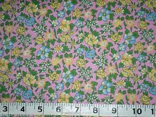 Quilt Cotton Fabric Calico Prints Small Flower Yellow Blue Pink Fabri-Quilt BTY
