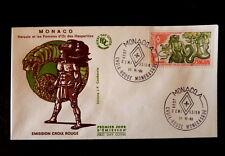 MONACO PREMIER JOUR FDC YVERT  1546   HERCULE ET LES POMMES D OR  3+0,70F   1986
