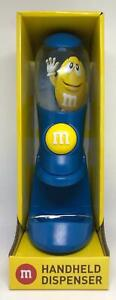 M&M's World Blue Handheld Dispenser Candy Dispenser New with Box