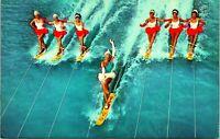 Vtg Postcard Aquamaids Women Water Ski Ballet Cypress Gardens Florida Unused