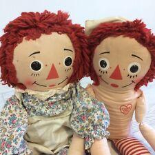 "Raggedy Ann & Andy Vintage 30"" Knickerbocker Toys Taiwan"