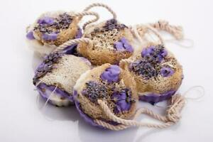 Natural Loofah Massage Soap Lavender Deeply Cleanses Skin Anti-Cellulite
