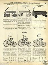 1931 PAPER AD Steelcraft Murray Flyer Whitney Coaster Wagon Sidewalk Scooter