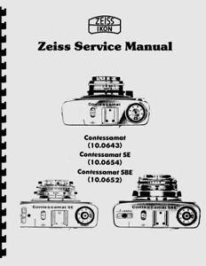 Zeiss Contessamat, Contessamat SE & SBE Service & Repair Manual (c1964) Reprint