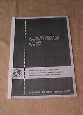 Colchester Colt  Lathe Instruction & Spare Parts Manual