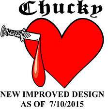 Chucky Tiffany Heart Replica TEMPORARY TATTOO  GREAT FOR HALLOWEEN FANCY DRESS