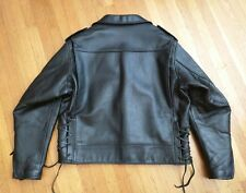 $1030 MR. S LEATHERS DELUXE BLACK LEATHER MOTORCYCLE BIKER JACKET 48 XL gay