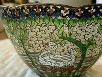 """Vintage Chinese Cloisonne """"Plique-a-Jour"""" Translucent Bowl"""