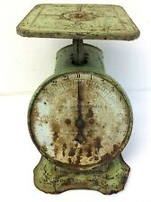 Antique Old Columbia Family Scale 24lb Landers Frary & Clark Green Primitive