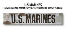 US MARINES Branch Name Tape (Desert) For Sew-On