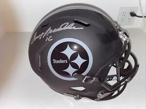 Terry Bradshaw Signed Pittsburgh Steelers Full Size Replica Blackout Helmet